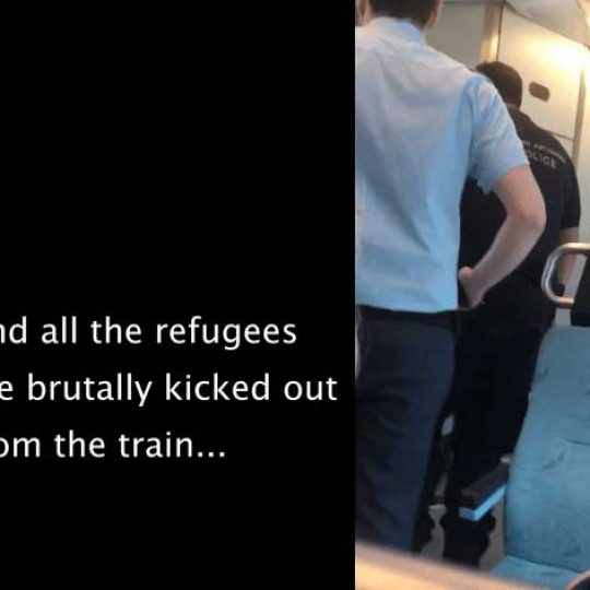 Agression on Greet train